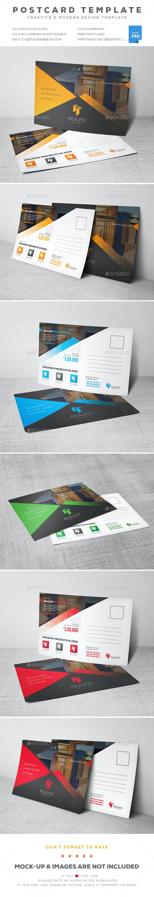 Real Estate Postcard - Cards & Invites Print Templates