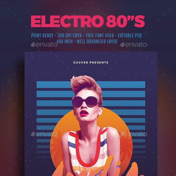 80's Electro DJ Party Flyer