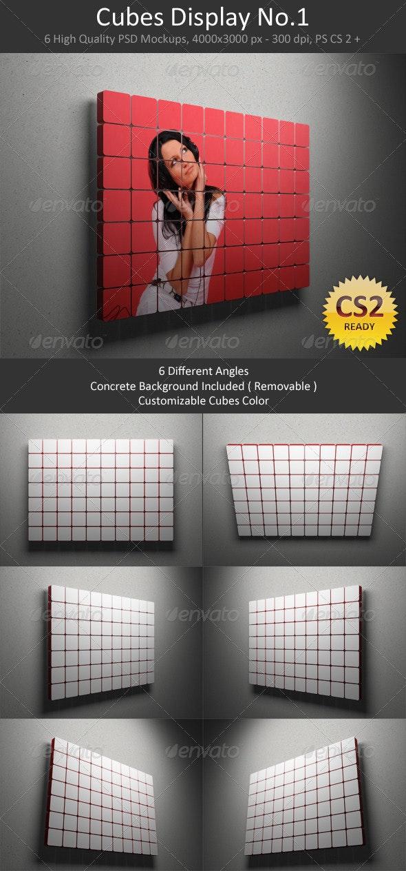 Cubes Display No.1 - Signage Print