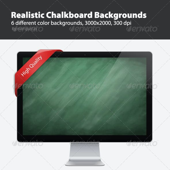 Realistic Chalkboard Background