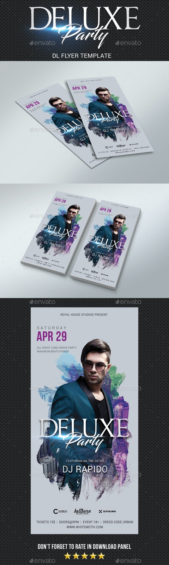 DL Deluxe Dj Party Flyer - Clubs & Parties Events