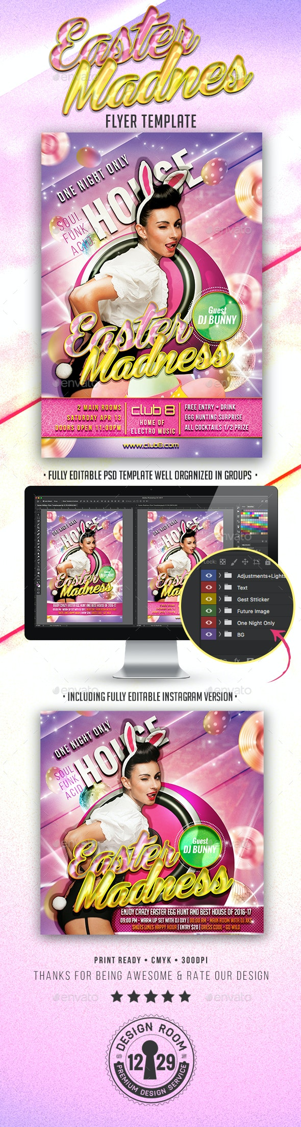 Easter Madness Flyer Template - Events Flyers