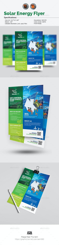Solar Energy Flyer V2 - Flyers Print Templates