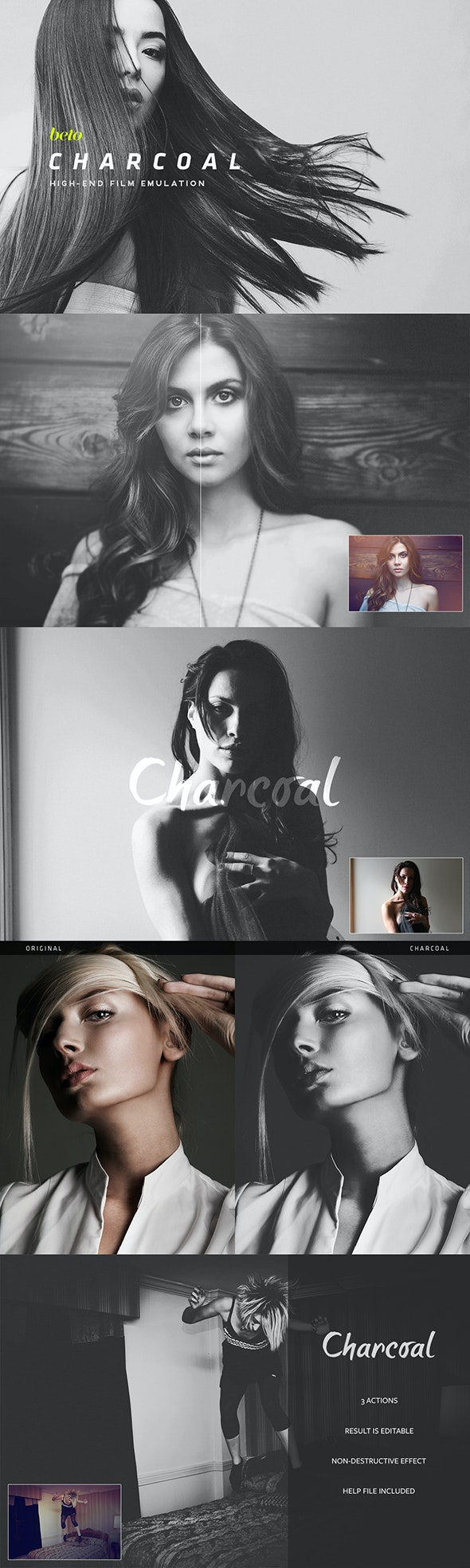 Charcoal Action - Photo Effects Actions