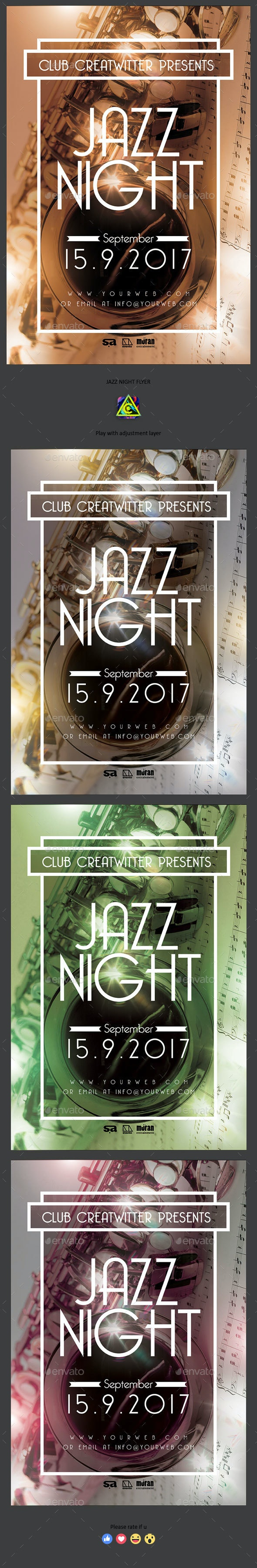 Jazz Night Flyer - Clubs & Parties Events
