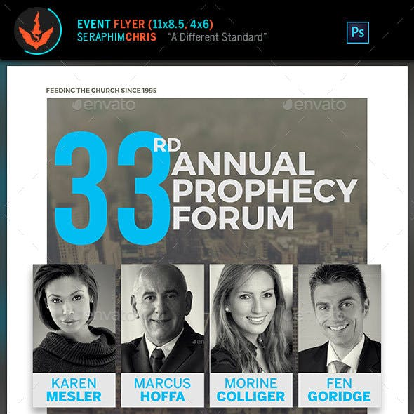 Prophecy Forum Church Flyer Template