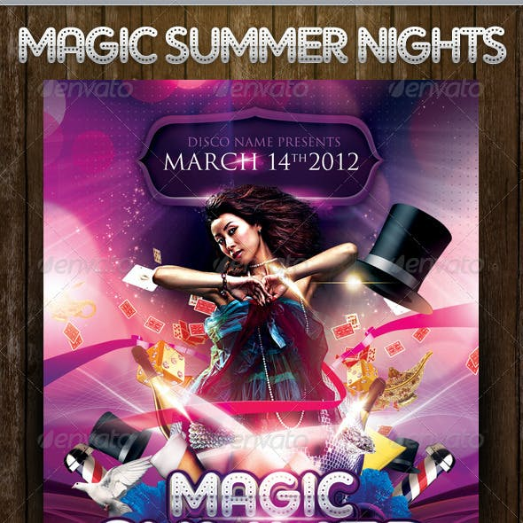 Magic Nights Party Flyer