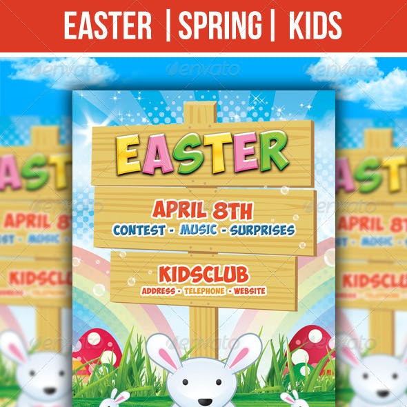 Easter Kids - Spring - Flyer Template