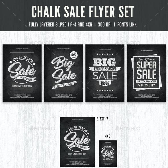 Chalk Sale Flyer Set