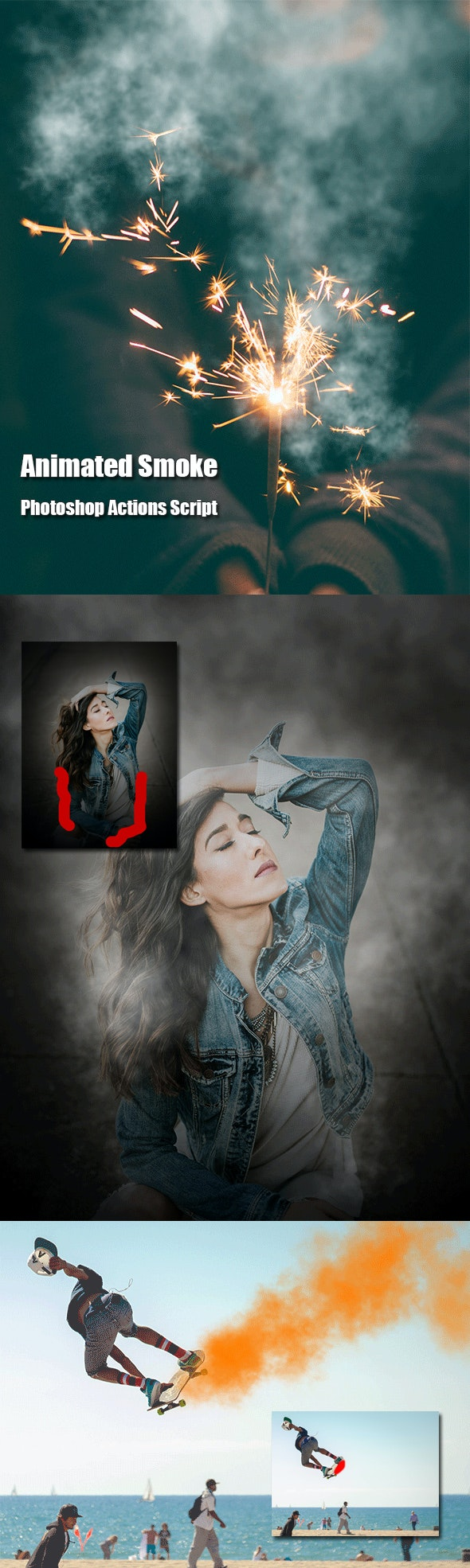 Animated Smoke Photoshop Add-on - Photo Effects Actions
