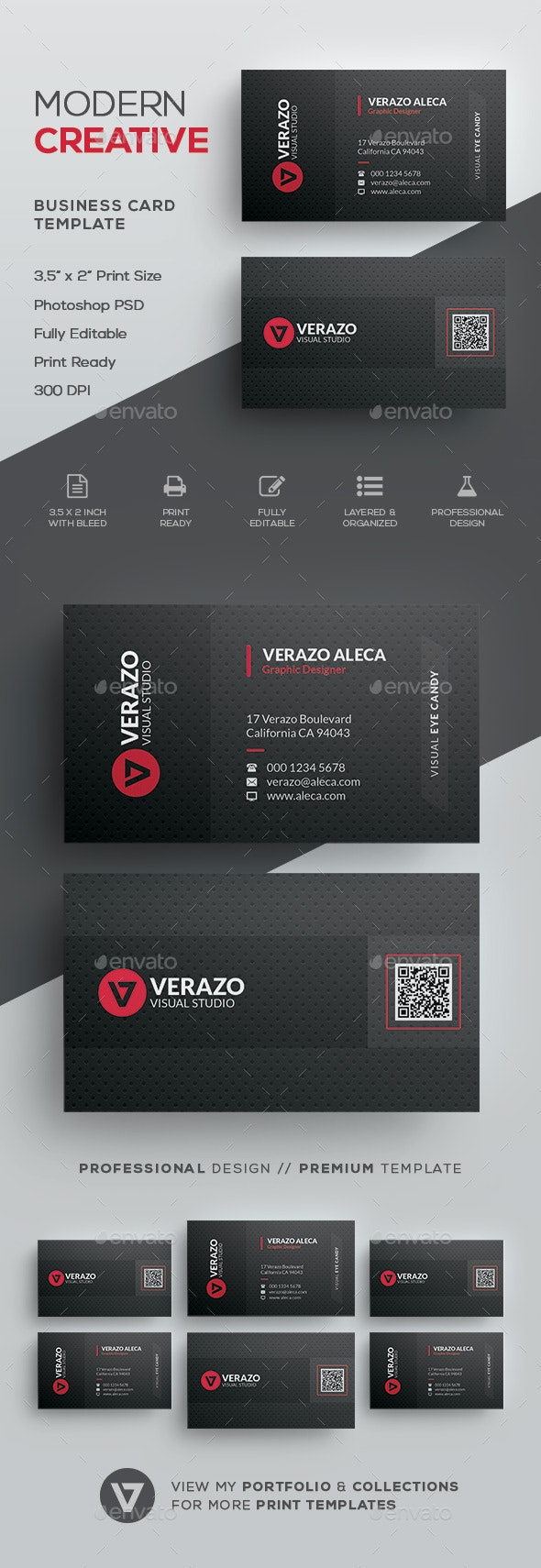 QR Code Business Card - Corporate Business Cards