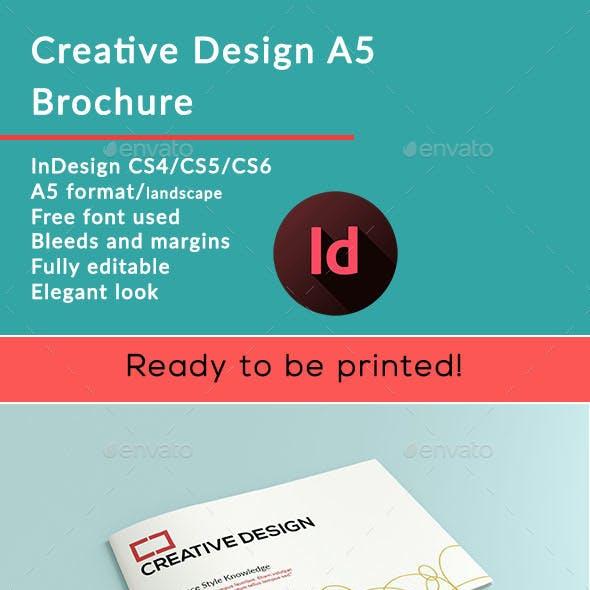 Creative Design a5 Brochure