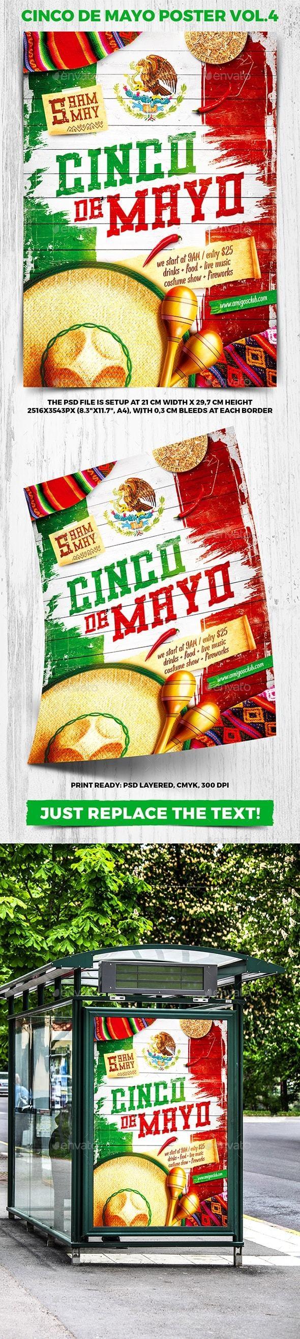 Cinco de Mayo Party Poster vol.4 - Holidays Events