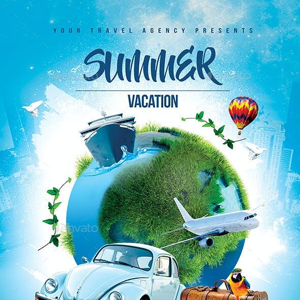 Summer Vacation Travel Flyer