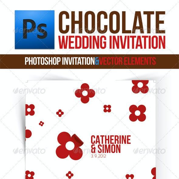 Chocolate Wedding Invitation