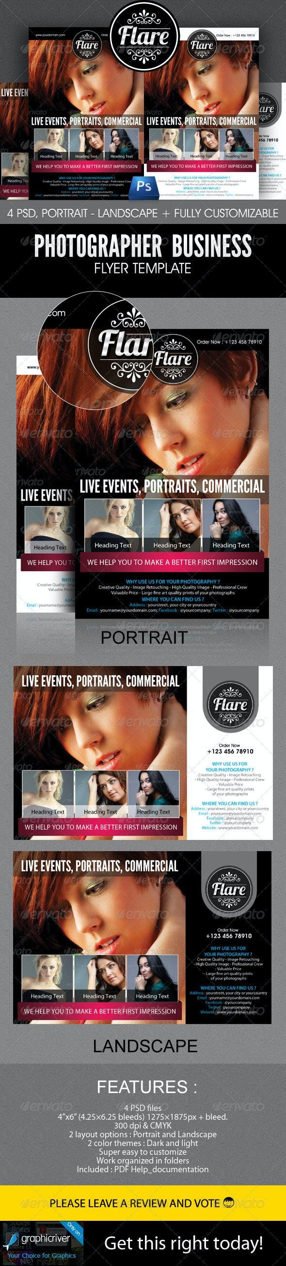 Photographer Business Flyer Template - Flyers Print Templates