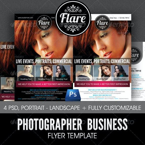 Photographer Business Flyer Template