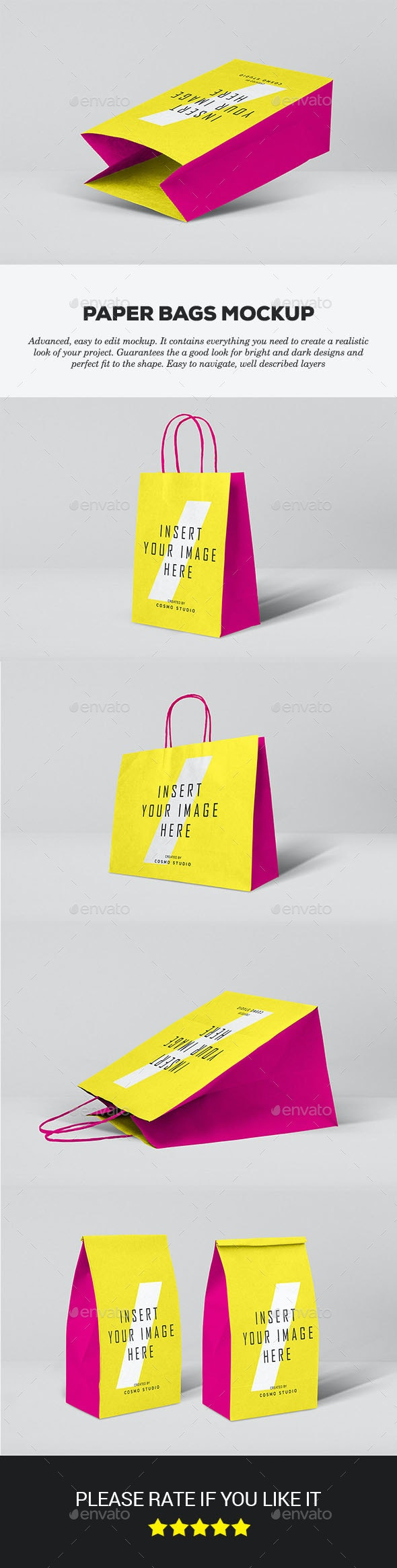 Paper Bags Mockups - Packaging Product Mock-Ups