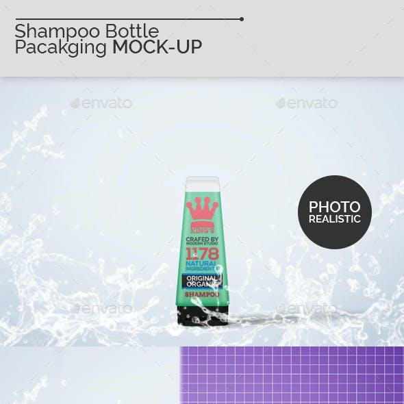 Shampoo Bottle Packaging Mock-Ups