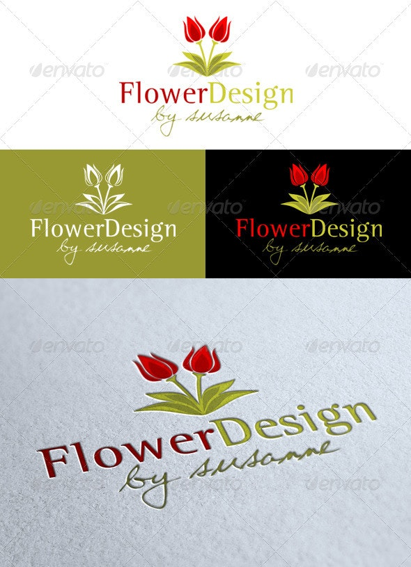 'Flower Design' Logo - Nature Logo Templates