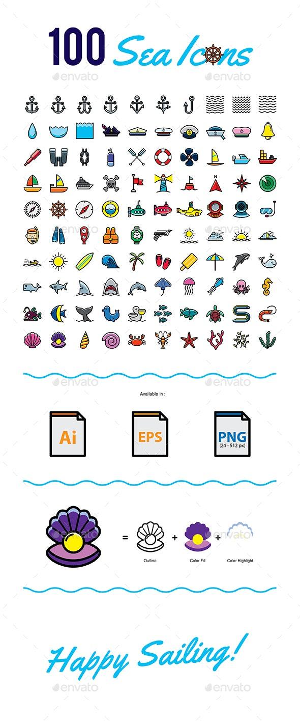 100 Sea Icons - Icons