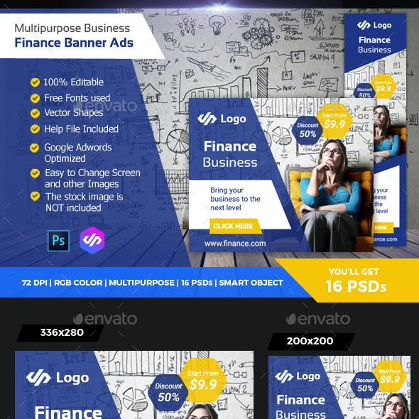 Business Finance Banner Ads