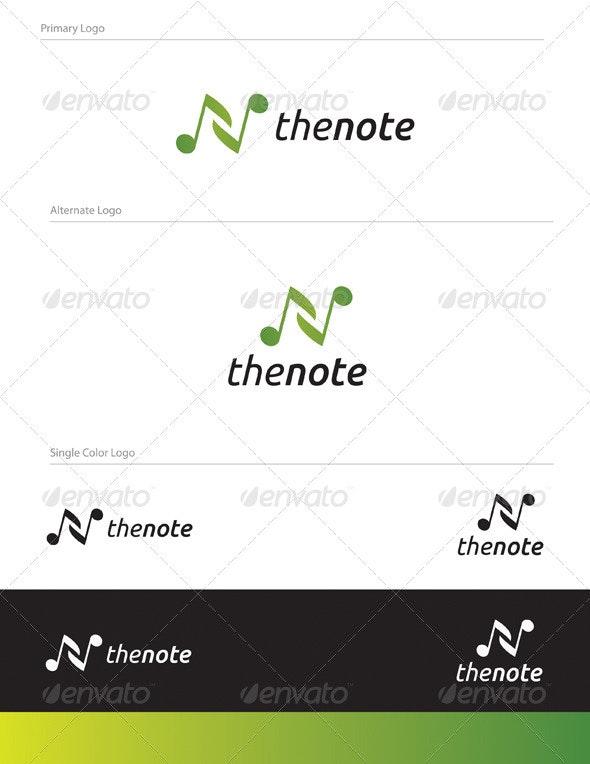 The Note Logo Design - LET-010 - Letters Logo Templates