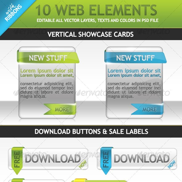 10 Web Elements With Ribbons