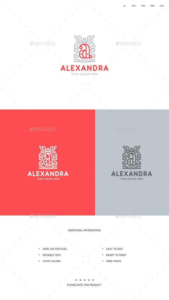 Letter A Crest Logo - Letters Logo Templates