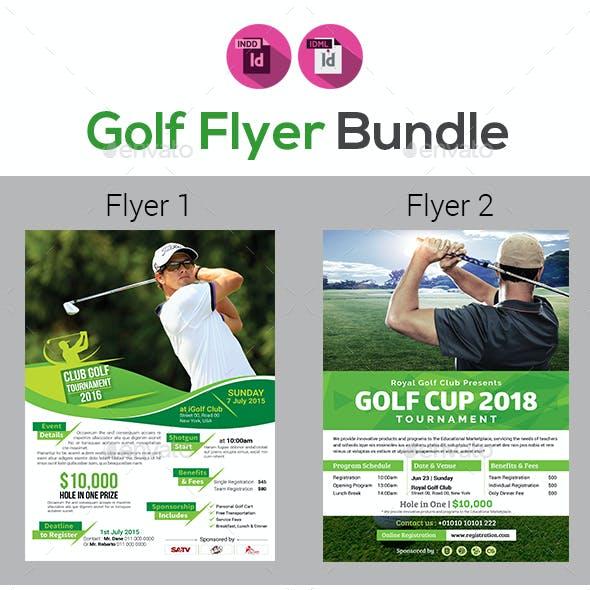Golf Tournament Flyer Bundle