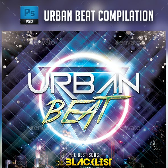 Urban Beat CD Cover Template
