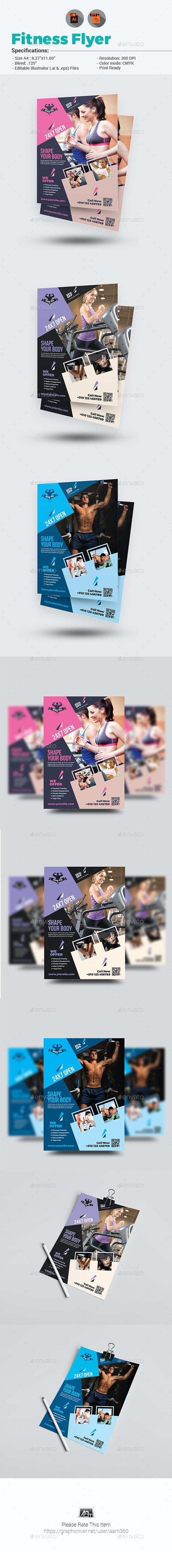 Body Fitness Club Flyer - Sports Events