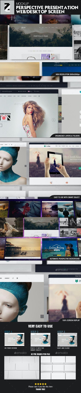 Perspective Presentation Web Mockup v3 - Website Displays