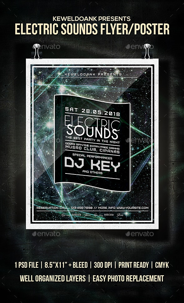 Electric Sounds Flyer / Poster - Clubs & Parties Events
