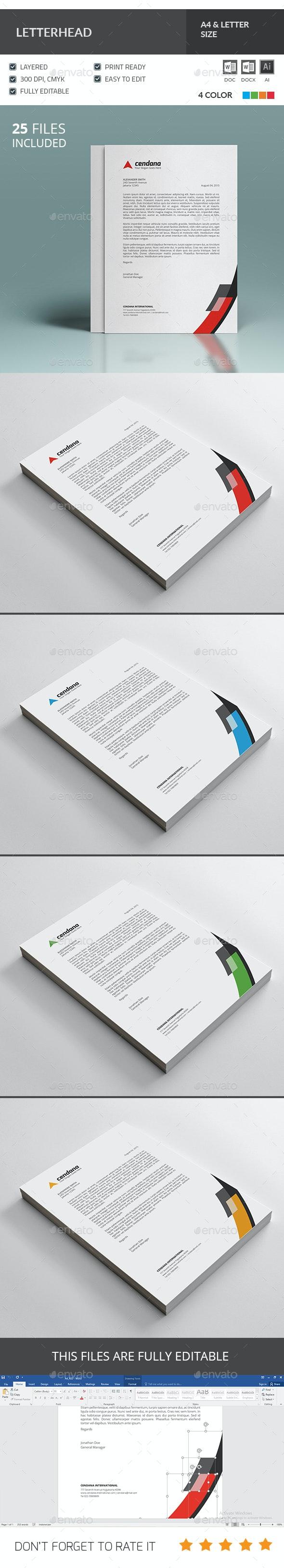 Letterhead Template - Stationery Print Templates