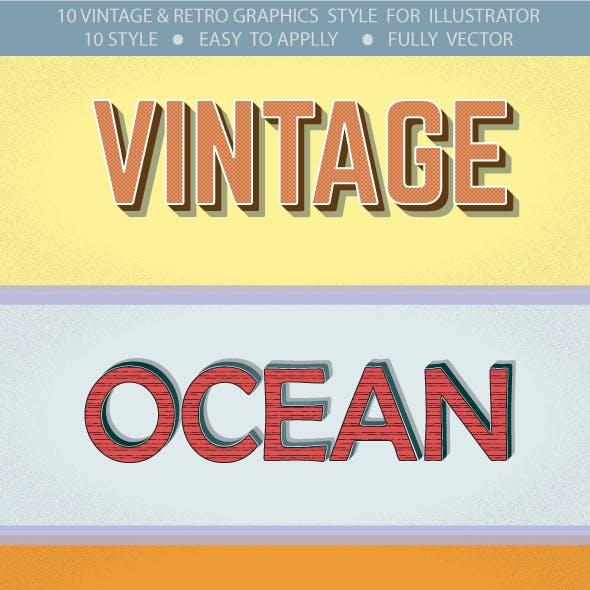 Vintage & Retro Grapphic Styles for Illustrator