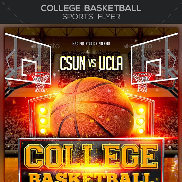 College Basketball Sports Flyer