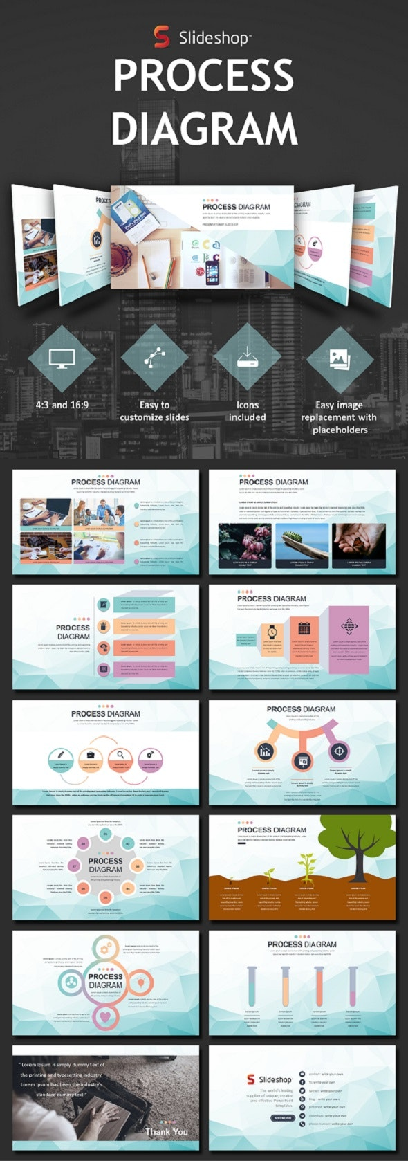 Process Diagram - PowerPoint Templates Presentation Templates