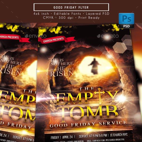 The Empty Tomb Good Friday Flyer