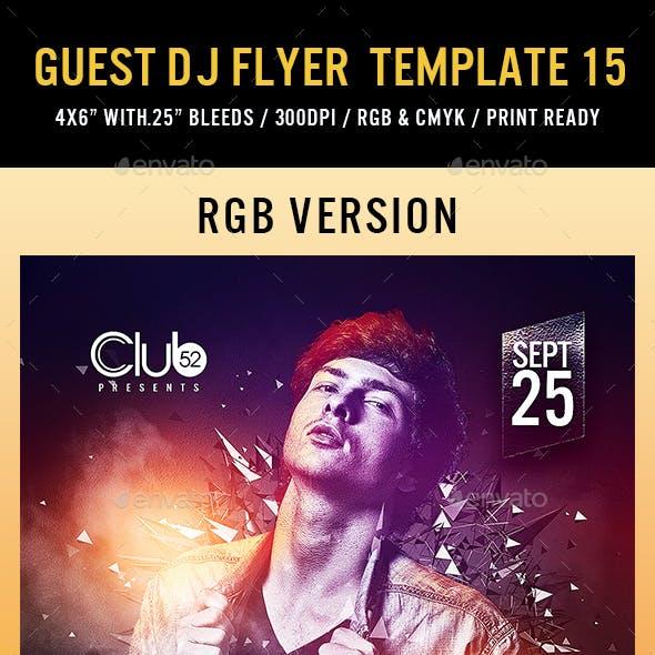 Guest DJ Flyer Template 15