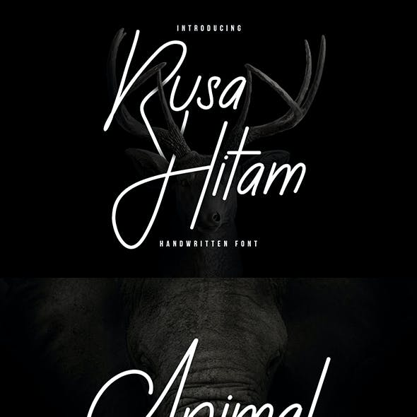 Rusa Hitam Font