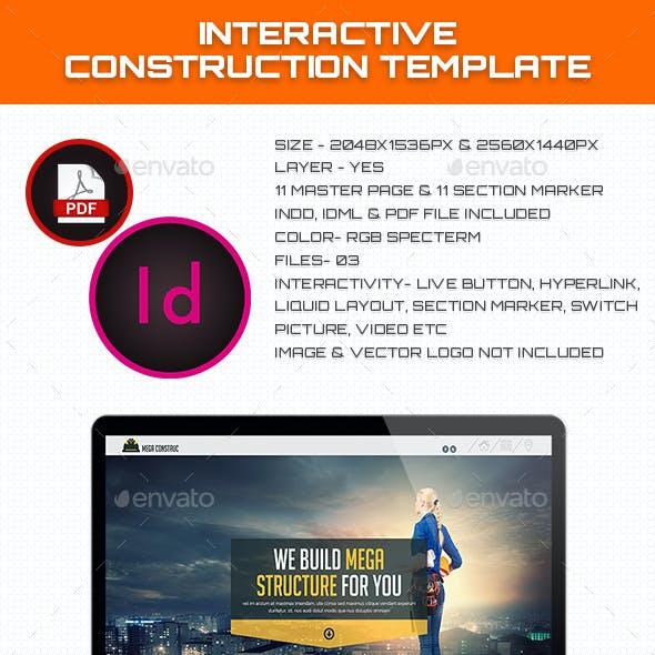 Interactive Construction Template
