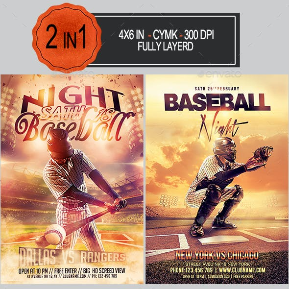Baseball Flyer Bundle