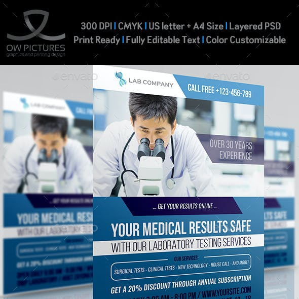 Medical Laboratory Flyer Template
