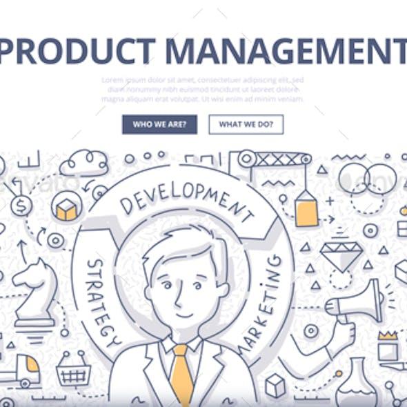 Product Management Doodle Concept