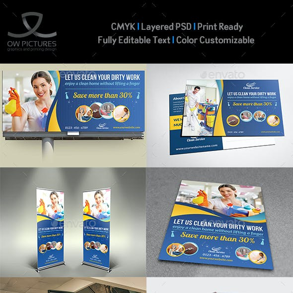 Cleaning Services Advertising Bundle Vol.2