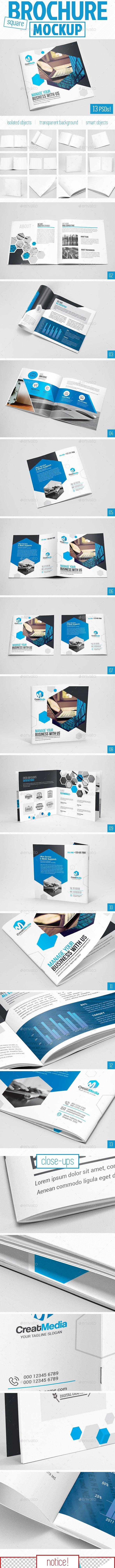 Square Brochure Mockup - Brochures Print