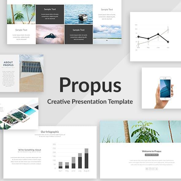 Propus - Creative Keynote Template