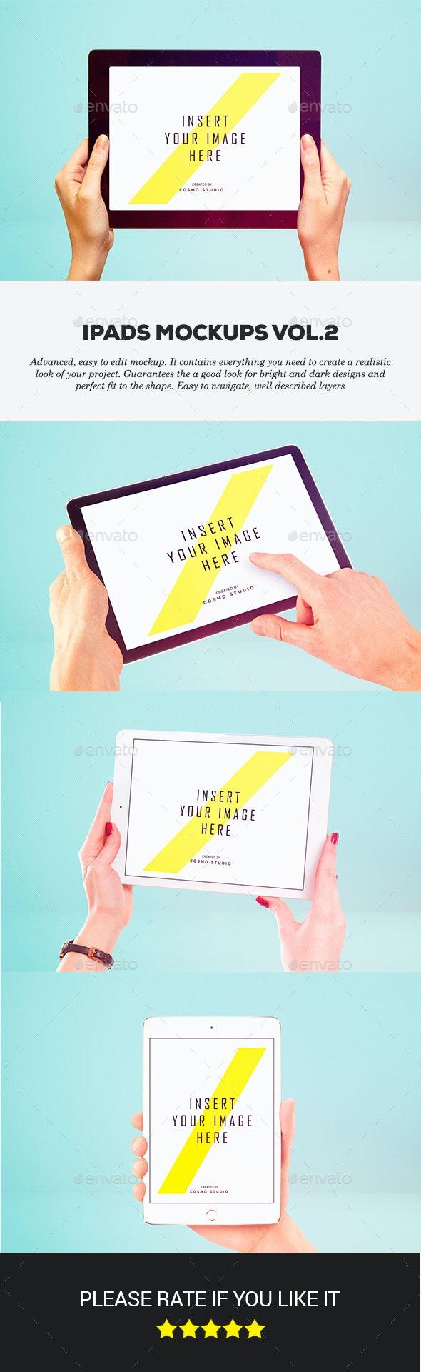 iPads Mockups Vol.3 - Displays Product Mock-Ups
