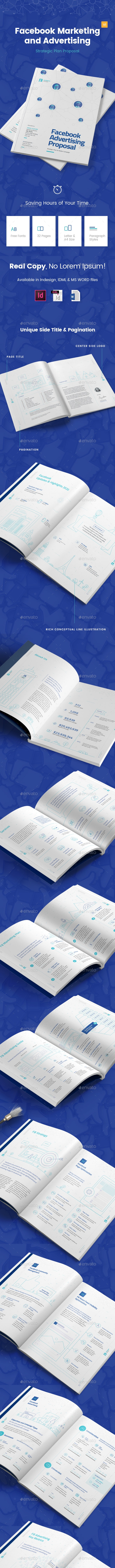 Facebook Marketing and Advertising Proposal - Proposals & Invoices Stationery